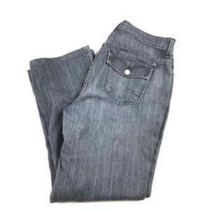 NYDJ Size 10 Jeans Flare Leg Wide Leg 34x26